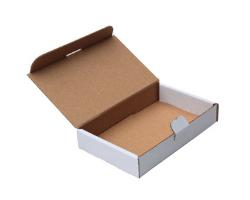 Poštovní krabice 165x120x25 mm, do schránek, bílá
